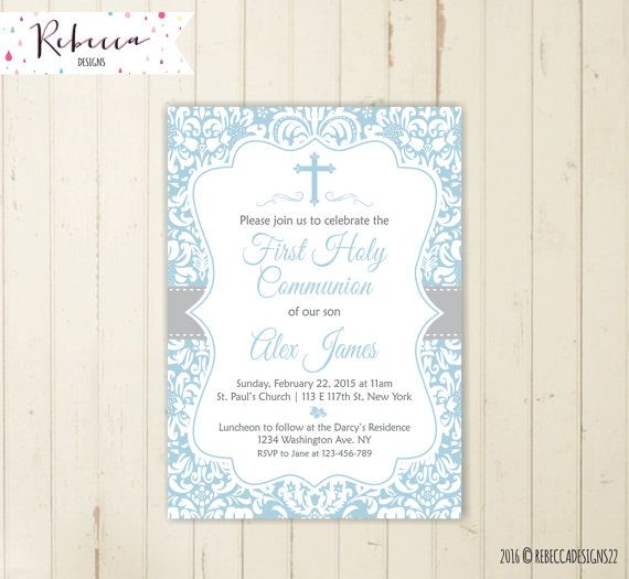 Best 25 Holy communion invitations ideas – Confirmation Party Invitations