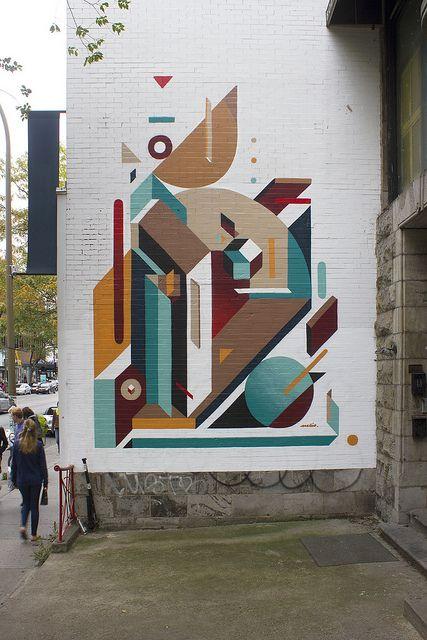 Montreal, абстракция на улице. Мне кажется, что пешеходам это нравится.