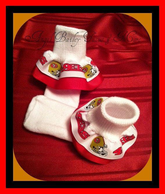 San Francisco 49ers Girls Ruffle Socks by AngelBaileyTutus on Etsy