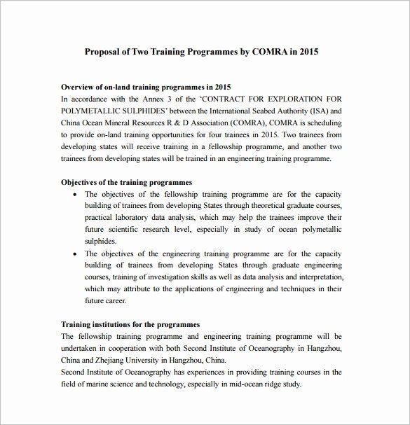 Educational Program Proposal Template Unique 37 Training Proposal Templates Pdf Doc Proposal Templates Event Proposal Template Project Proposal Template