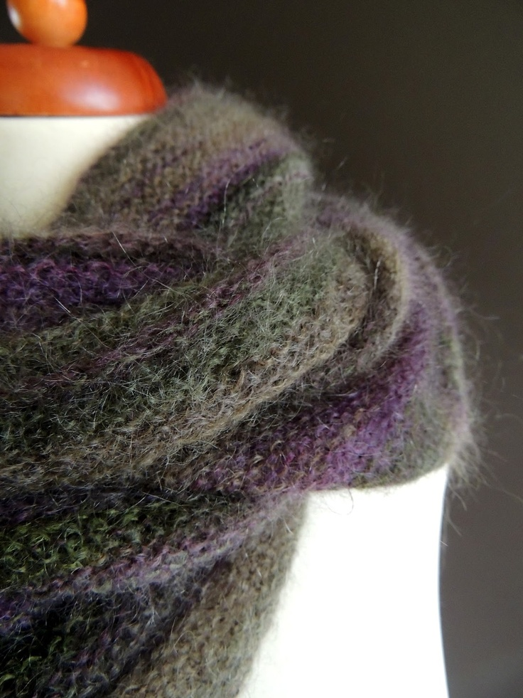 infinity scarf - rowan kids silk haze striped Kaffe Fasset