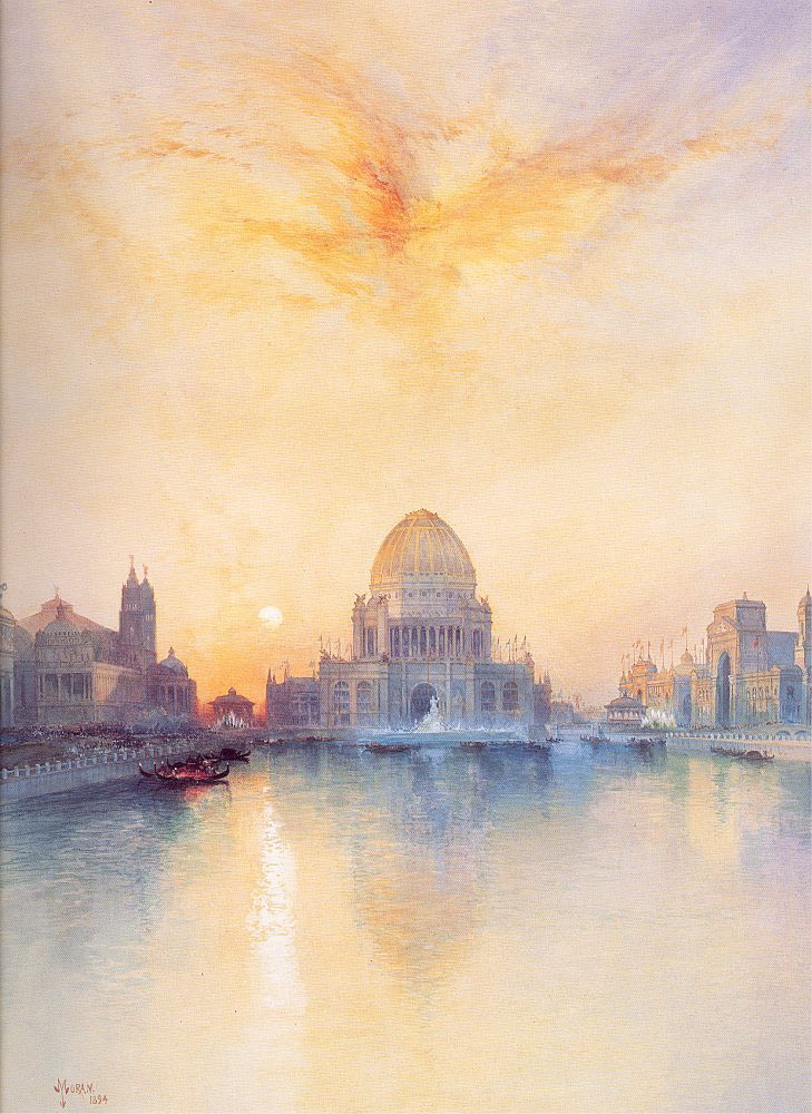 Thomas Moran (1837-1926)  Chicago World's Fair, Watercolor on paper, 1894