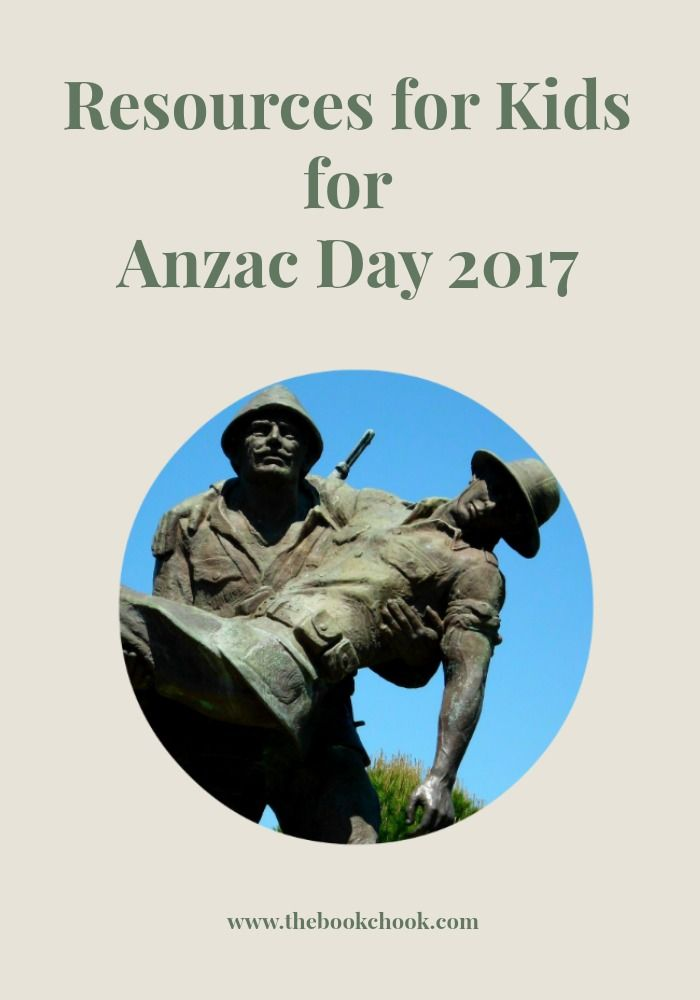 What are some great resources to use with kids for Anzac Day in Australia, 2017?