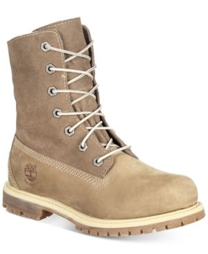 Timberland Women's Teddy Fleece Waterproof Boots - Brown 5.5M