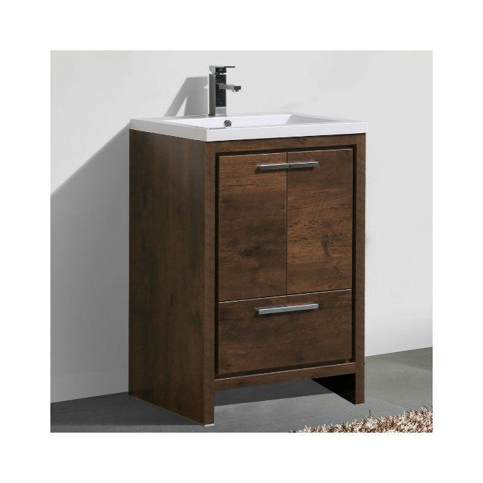 This Free Standing Modern Bathroom Vanity is one of the most elegant modern bathroom vanities around. This model comes with a durable pure white reinforced acrylic countertop and features two doors and one drawer with high quality European hardware, that provides smooth soft-closing operation.