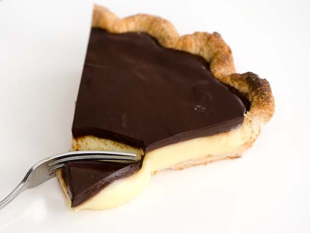 Boston Cream Pie as a pie! (It's supposed to be a cake) This has the recipe!