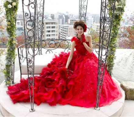 2011 Colorful Wedding Dress Collections by Island Bridal: Wedding Dressses, Fashion, Colored Wedding Dresses, Wedding Ideas, Beautiful, Colorful Wedding Dresses, Colorful Weddings, Red Wedding Gowns