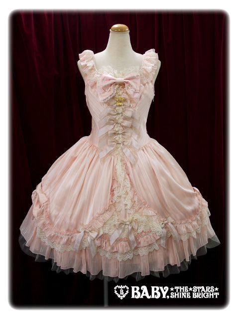therealbitchpudding:  albinwonderland:  lolitahime:  BABY'S newest series: Doll Coronet Aria JSK  oh  *_*