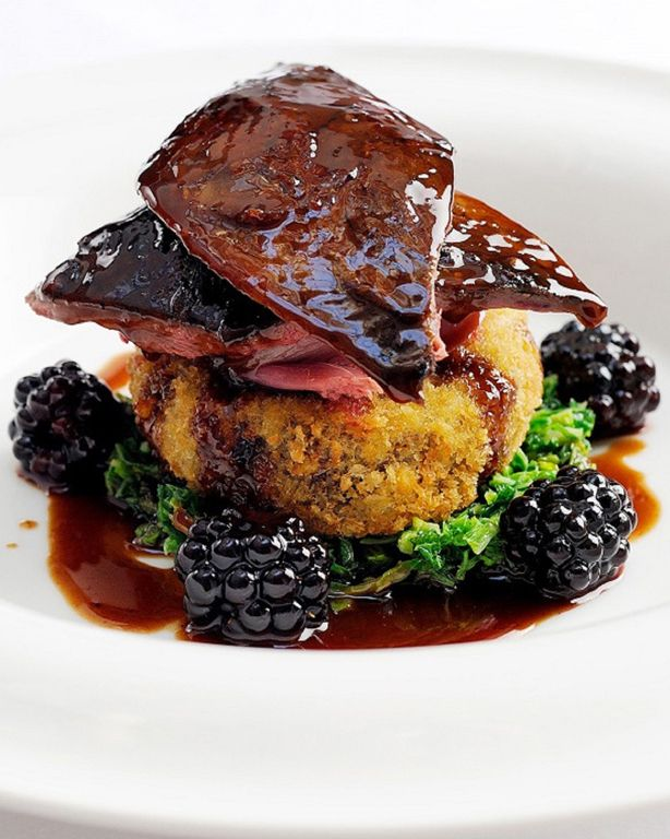 Although game is most closely associated with autumn and winter, this dish from William Drabble is best served in late August when the grouse is still young and tender and blackberries are just coming into season. The tangy fruit complements the rich meat wonderfully and this grouse recipe is a fine way to bid farewell to summer.