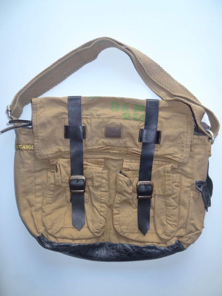 Old Cotton Cargo Bag - BAG#17 (59,- €)