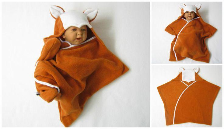 Halloweenkostüme - star fleece baby wrap stern schlafsack pucktuch - ein Designerstück von bighead5005 bei DaWanda