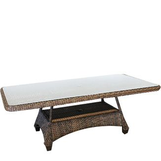 """Four Seasons Rec. Dining Table BY CASUALIFE D 45"""" W 87"""" H 31""""  Tobacco"""