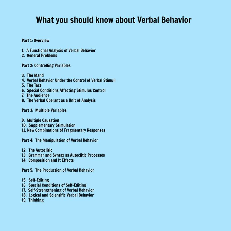What you should know about verbal behavior special for Haute you should know