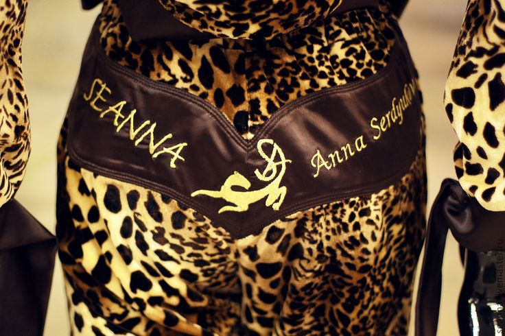"""Купить Бархатный спортивный костюм с вышивкой """"SEANNA"""" с атласом - золотой, звериная расцветка, леопардовый костюм"""