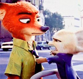 """""""She hustled you... She hustled you good!!! you're a cop now Nick! You're gonna need one of these"""" - Finnick and Nick Wilde"""