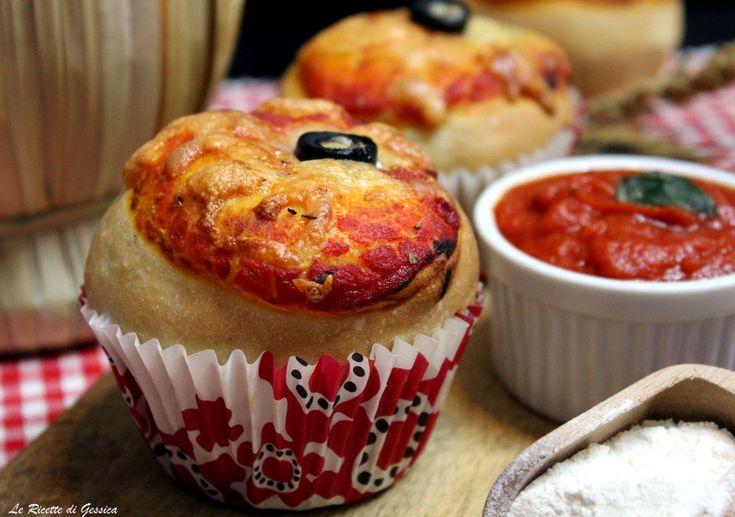 Pizza Muffin - Ricetta con e senza Bimby