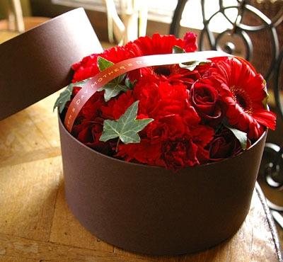 Gift box of flowers 母の日ギフト ボックスフラワー