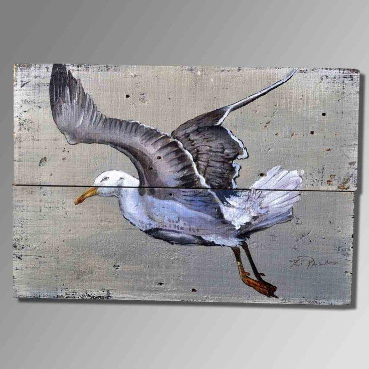 Zwaan schilderij. Hoge kwaliteit abstracte kunst schilderen op hout oude stijl, high- end meubelen decor