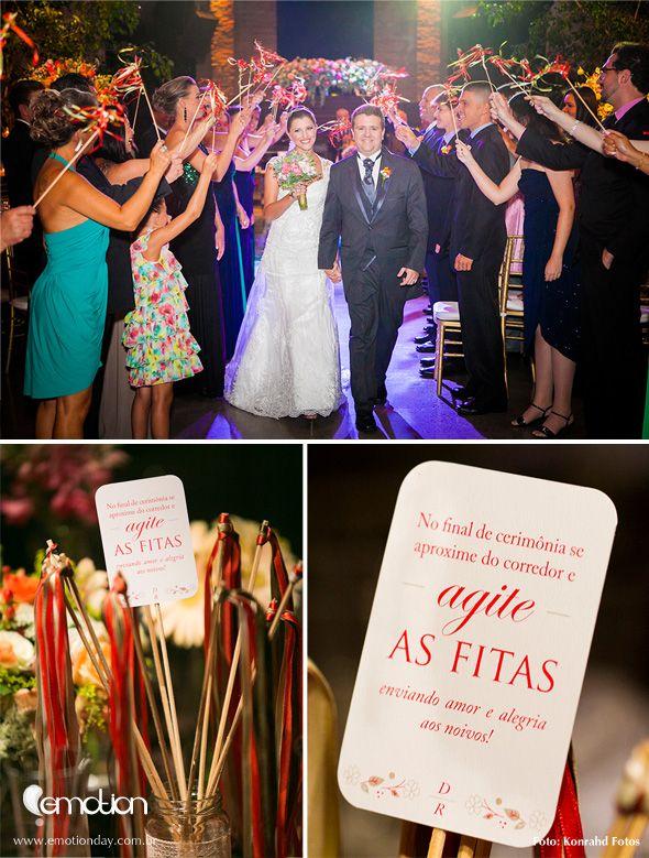 Varinha de fitas para saída dos noivos | Ribbon wands for weddings