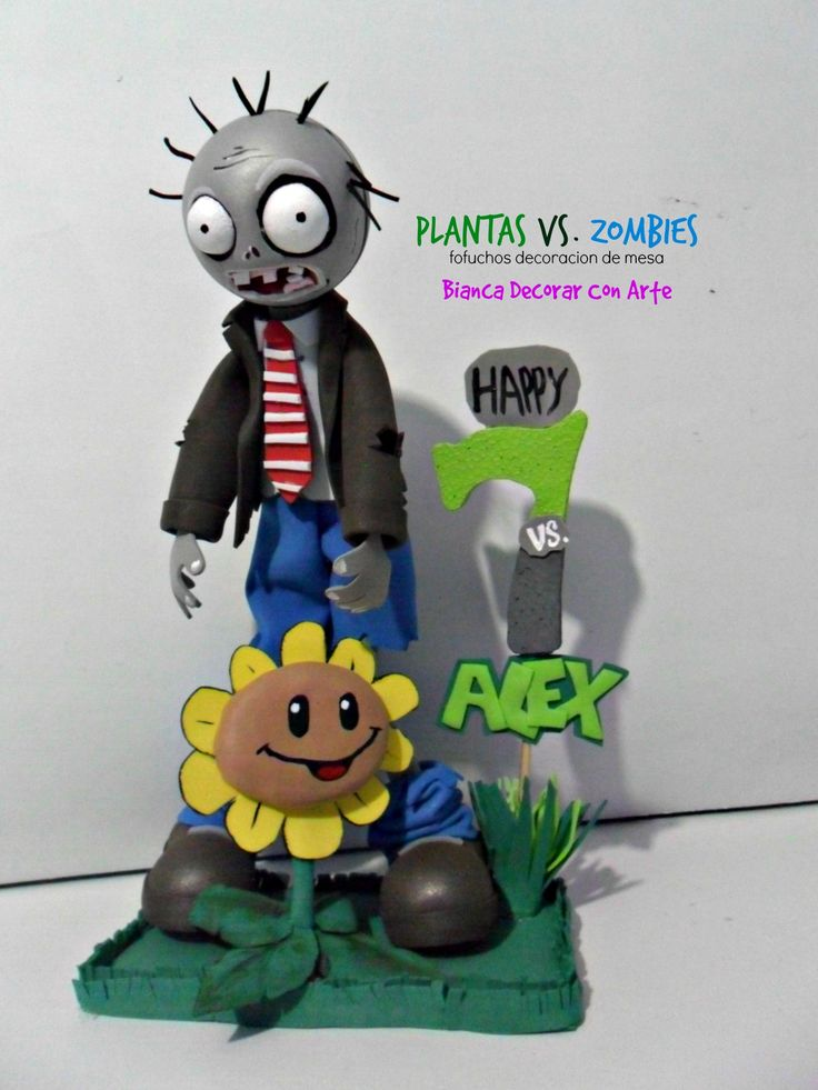 Estos hermosos centros de mesa con el car cter de plants for Decoracion con globos plantas contra zombies