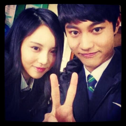 Kwak dong yun and Lee yul eum (middle school student a)
