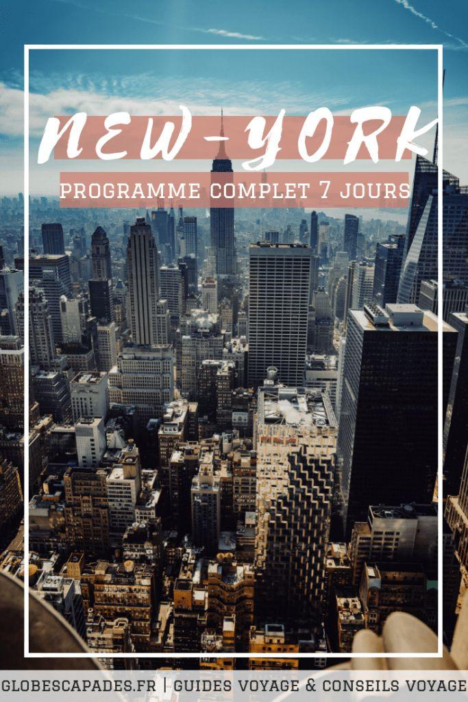 Itinéraire New-York: Programme sur 1 semaine