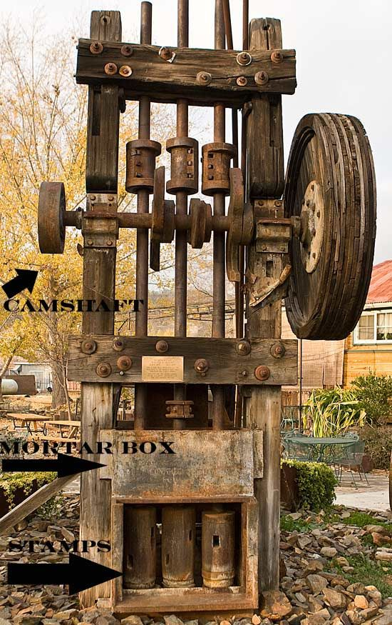 stamp mill | This is a Three Stamp Mill from the Argo Mine near Greeley Hill ...