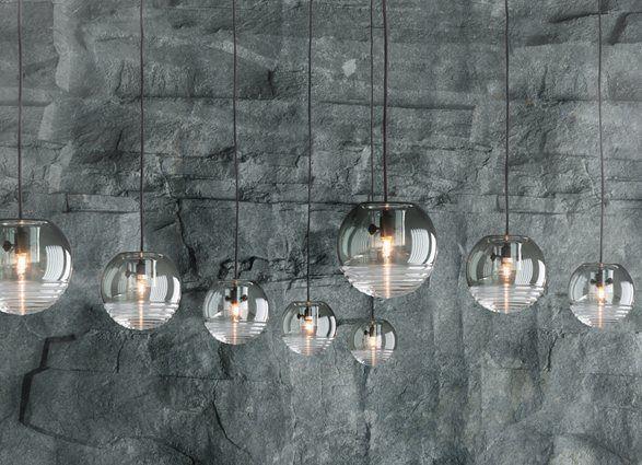 Artisan crafted Tom Dixon Flask pendant lights