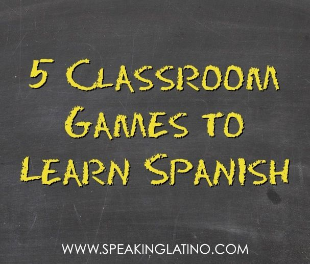Five tried and true games to learn Spanish that are quick and easy to run in a classroom and work well both in secondary education and with adults.