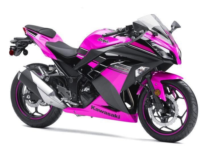 kawasaki ninja 250r. I actually like this pink one better than the purple