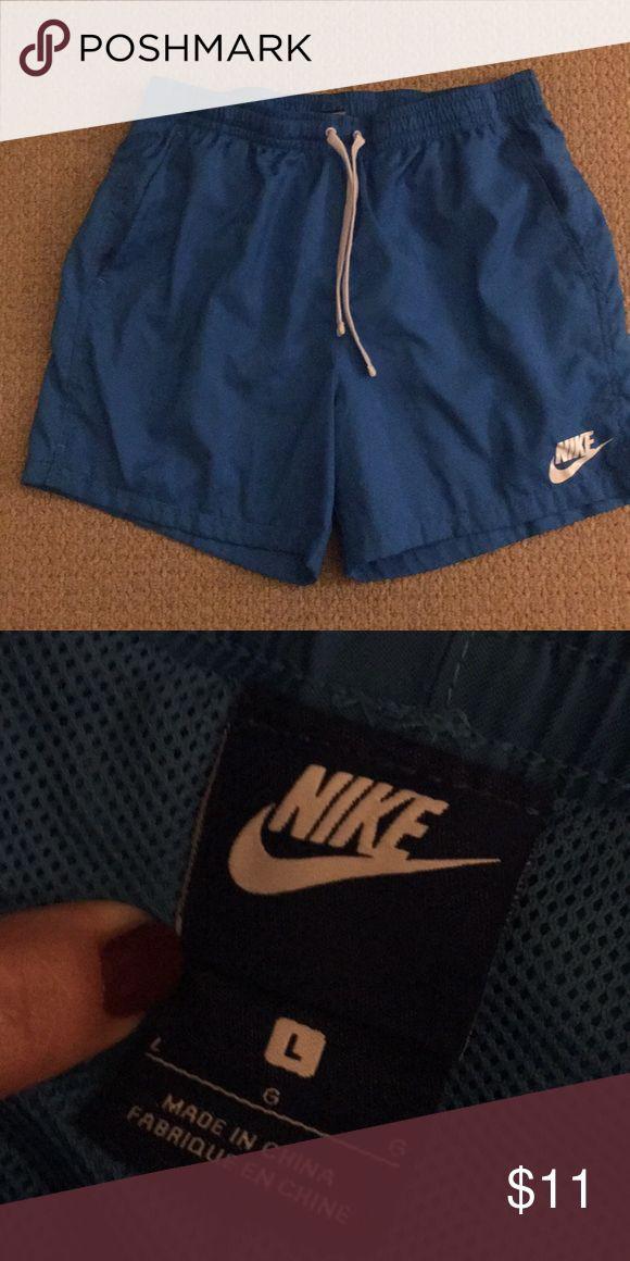 Nike bathing suit Men's blue nike bathing suit. NWOT, never worn Nike Swim Swim Trunks