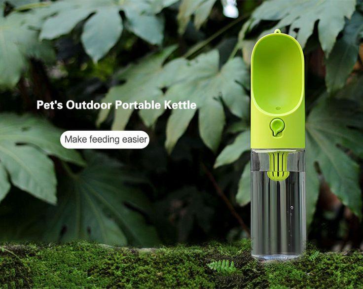 Pet Travel Portable Water Dispenser Bottle Travel Feeding Bowl Outdoor Pet Dog Filtrate Kettle