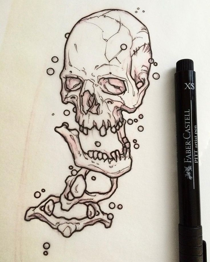 Drawing The Line Tattoos Tara Mccabe : Best ideas about skull sketch on pinterest