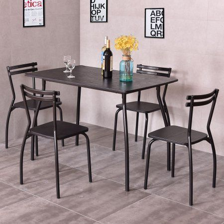 Free Shipping. Buy Costway 5 Piece Dining Set Table And 4 Chairs Home Kitchen Room Breakfast Furniture at Walmart.com