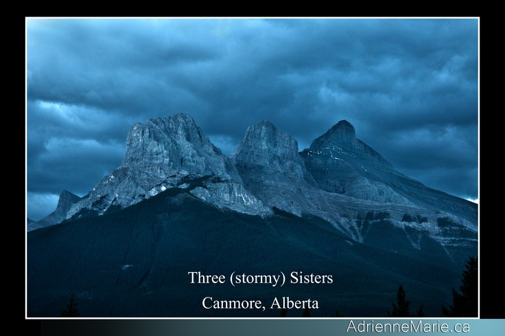 Three Sisters under a Stormy Sky  Canmore, Alberta