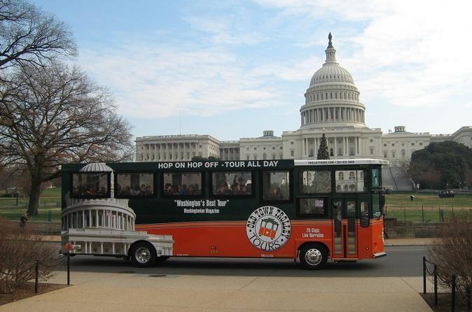 Washington DC Hop-on Hop-off Trolley Tour including Arlington National Cemetery