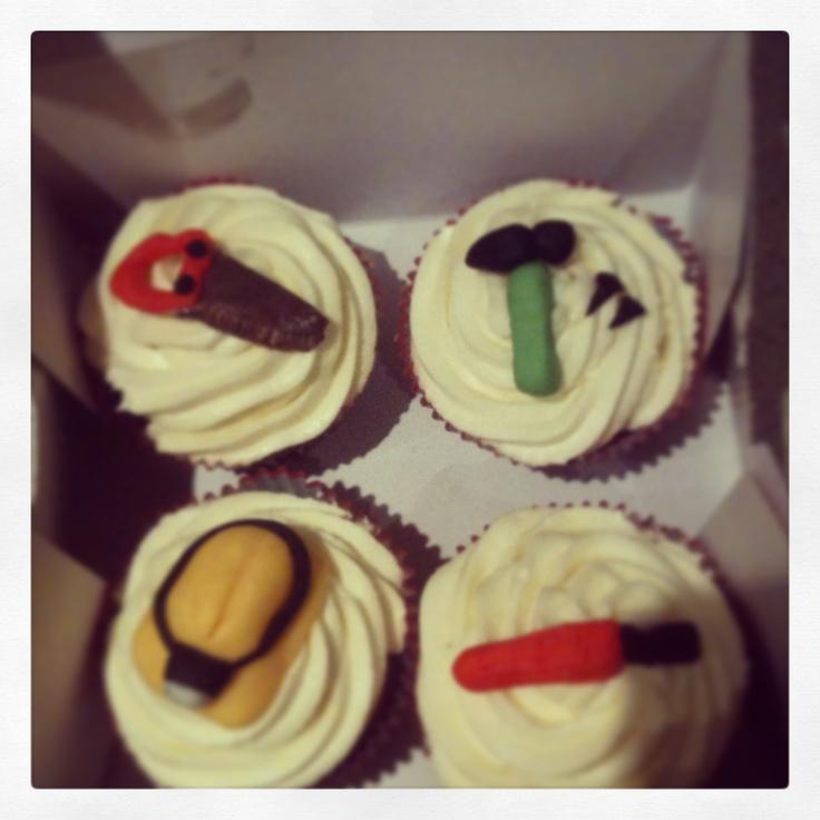 Tool box cupcakes <3
