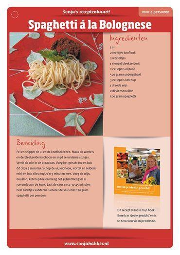 Spaghetti bolognese Sonja Bakker