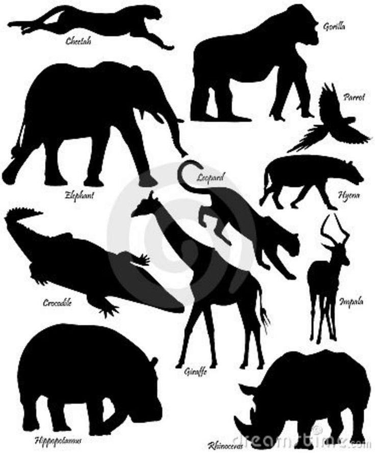 Vormen van Afrikaanse dieren