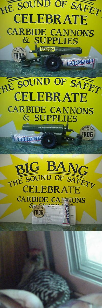 Cast Iron 721: 60Mm Nib 2017 Big Bang Cannon + Bangsite Calcium Carbide Cast Iron Conestoga Toy -> BUY IT NOW ONLY: $94.95 on eBay!
