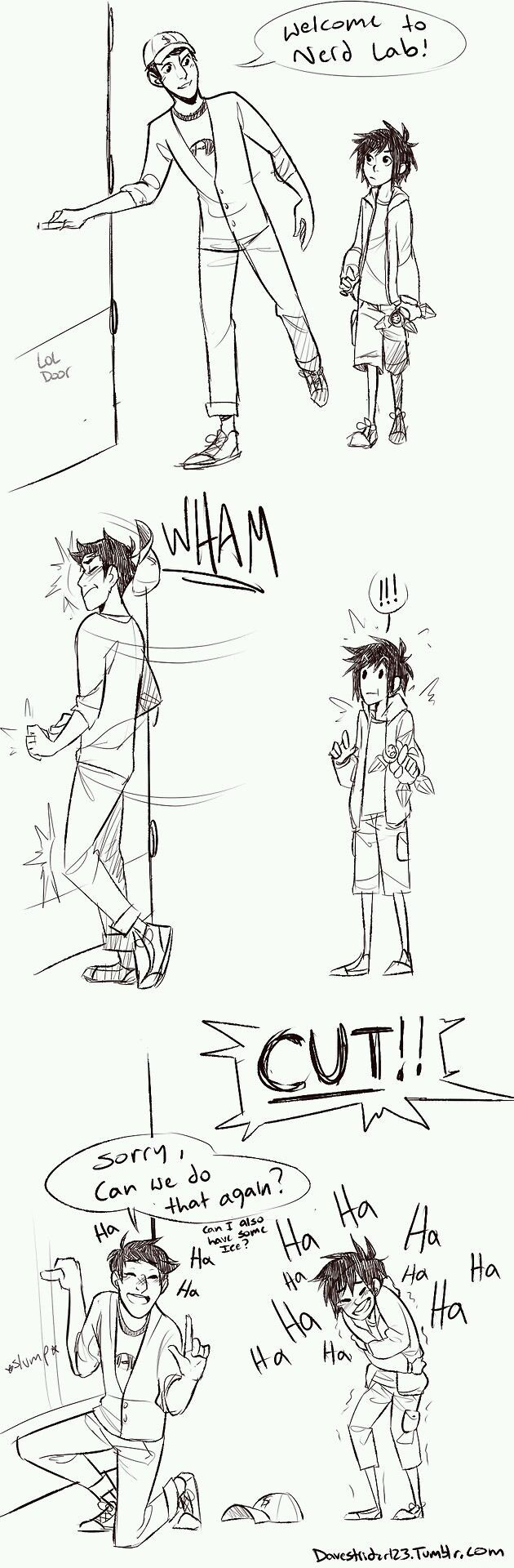 Bloopers of BH6!! (artist sadly unknown)