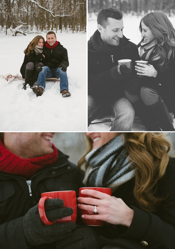 Beautiful winter #engagement pictures @Sarah Blaney Picture Credit: Ashley West Photography