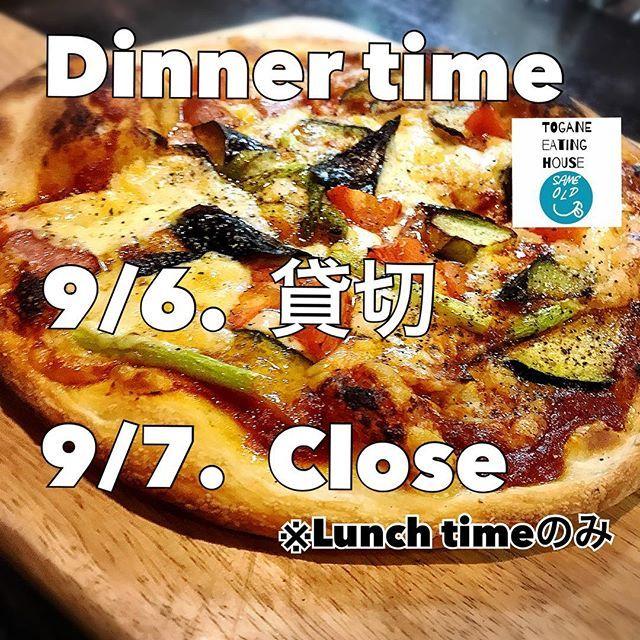 《Dinner time》 本日9/6 ディナータイムは貸切とさせていただきます。  明日9/7はランチ営業のみの為、夜はお休みです!  ご予約・お問い合わせお待ちしております◡̈⃝ 📞0475-53-3387 🅿️店舗裏12.13.14ご利用くださいませ✩⃛ #SAMEOLD 他メニュー・店内写真➡︎#sameold_teh#セイムオールド#ランチ#東金#togane#千葉#カフェ#cafe#千葉カフェ#東金市#山武市#九十九里#食堂#ランチ#lunch#生パスタ#パスタ#pasta#オムライス#カレー#肉#パンケーキ#pancake#飲み放題#宴会#東金ランチ#貸切#スタッフ募集
