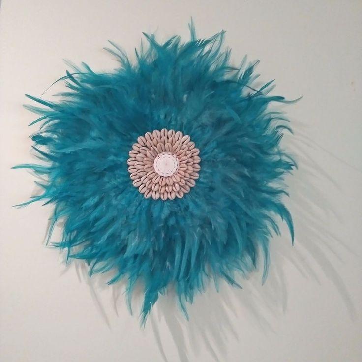 Feather Boho Tribal Juju, Turquoise  Feathers Medium size 42-45cm Home Decor