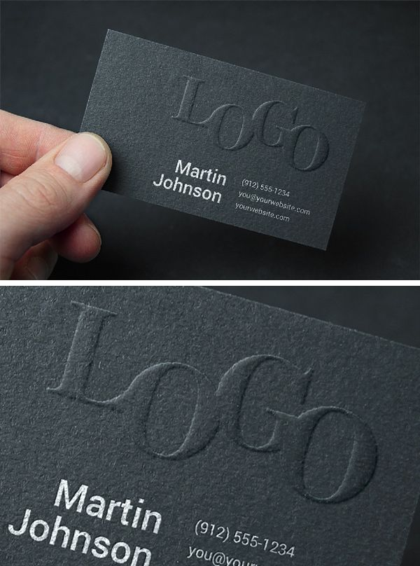 Embossed Business Card MockUp #2 | GraphicBurger