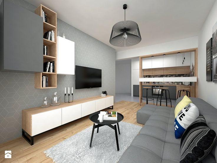 Aranżacje wnętrz - Salon: Mieszkanie - 40 m2 - Salon, styl skandynawski - BIG IDEA studio projektowe. Przeglądaj, dodawaj i zapisuj najlepsze zdjęcia, pomysły i inspiracje designerskie. W bazie mamy już prawie milion fotografii!