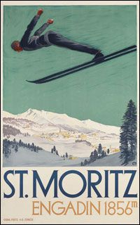 I love skiing and love these retro posters