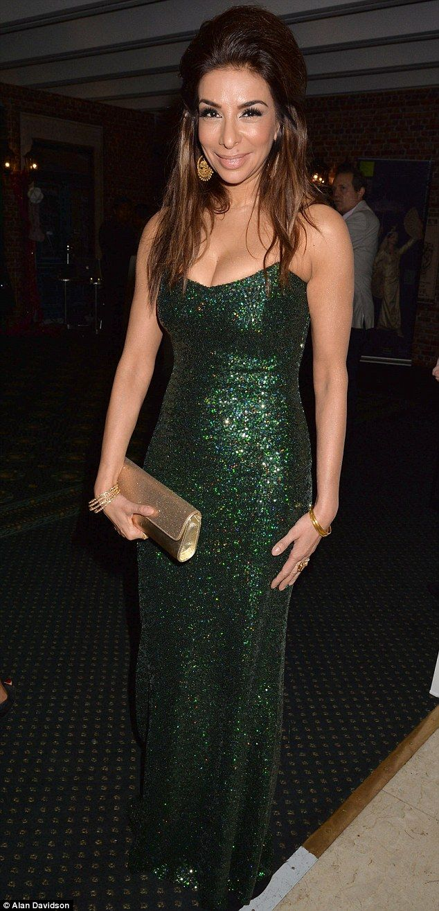Sexy in sparkles: Shobna Gulati wows in floor-length gown for Philippines Typhoon Children Aid Appeal event on Sunday