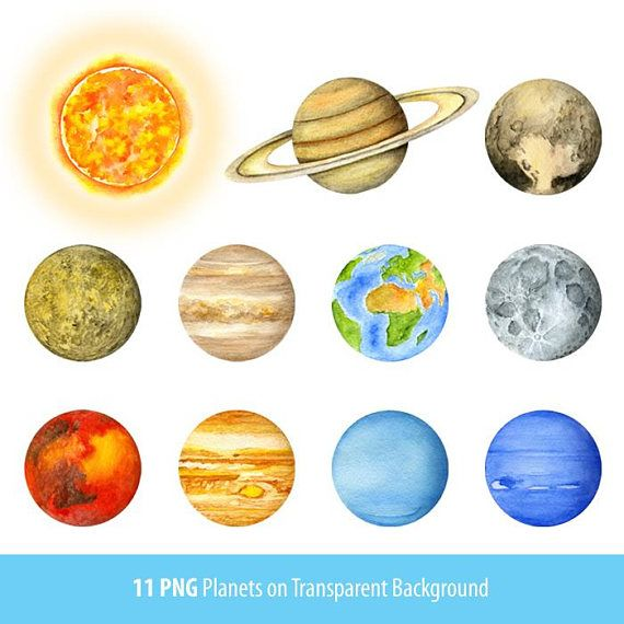Watercolor Solar System Planets Universe Home Decor Wall Etsy Planets Art Solar System Planets Planets