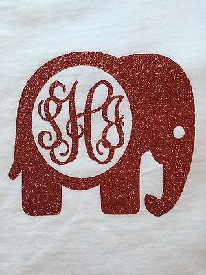 Alabama Monogram Long Sleeve, Elephant Monogram, Alabama shirt, Crimson Tide Tee
